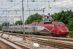 Thalys High Speed train at Amsterdam Muiderpoort