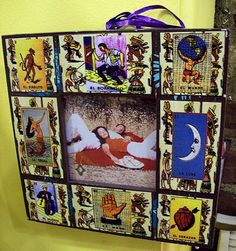Loteria picture frame Mexico pop culture by buckaroosmercantile, $20.00