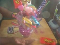 Perfect time for a Candy Bouquet! Very easy and very cheap. Most everything was bought at the 99 cent store or dollar store!