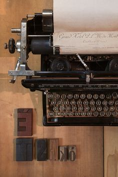 'Type Writer by Laurence David Framed Photographic Print East Urban Home Frame Colour: Satin Black Venice Bridge, Antique Typewriter, Photo Vintage, Dordogne, Typography, Lettering, Vintage Typewriters, Jolie Photo, Aesthetic Vintage