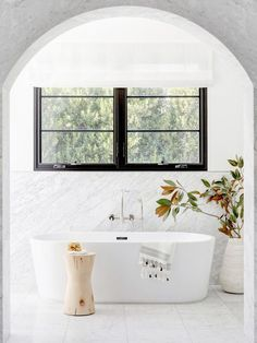 Behold the Marble Bathrooms That Made Our Editors' Jaws Drop via @MyDomaineAU