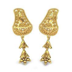1060b67d0 Gold Earrings Designs, Gold Drop Earrings, Women's Earrings, Bling, Jewels,  Gold