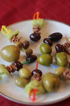 St. Bernadette's Feast Day:  Olive, Anchovy and Hot Pepper Pinchos/Pintxos