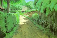 Enjoy a collection of 100 Concept Art from Classic Studio Ghibli Movie My Neighbor Totoro, featuring Concept Art, Character, Layout & Background Design. Drawing Scenery, Background Drawing, Animation Background, Fantasy Landscape, Landscape Art, Studio Ghibli Background, Studio Ghibli Movies, My Neighbor Totoro, Woods