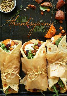 Vegan Thanksgiving Wraps