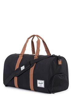 53f4e53b32a1 Novel Black and Tan Duffle Bag