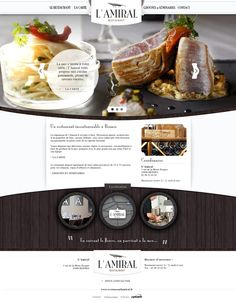 Restaurant LAmiral by Optavis , via Behance