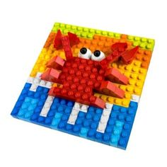 hmm...duplo mosaics. we may be onto something. Sharing A Shell, Lego Studios, Van Lego, Lego Mosaic, Lego Duplo, Sunday School, Activities For Kids, Diy And Crafts, Triangle