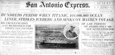 The Express' coverage of Fiesta makes for an odd pairing with the sinking of the Titanic in April 1912. For more, click on the link.