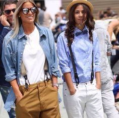 Girls in menswear. Androgynous Fashion, Tomboy Fashion, Denim Fashion, Look Fashion, Girl Fashion, Fashion Outfits, Womens Fashion, Androgyny, Street Fashion