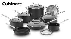 Enter For A Chance To Win A Cuisinart 14pc Chef's Classic Non-Stick Hard Anodized Cookware Set          #sweep #sweepstakes #contest #contestentry #sweeps #giveaway #enter #entertowin #giveaways #contests #sweepstake #win #winning #winner #prize #prizes #contests