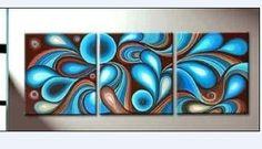 Mecanismo Azul pintura a óleo abstrata na Lona Decoração Da Parede arte Moderna sala de estar pintura decorativa pictures cuadros 3 peça em Pintura & Caligrafia de Home & Garden no AliExpress.com | Alibaba Group