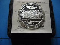 HARLEY-DAVIDSON 1903-2003 100TH ANNIVERSARY EMPLOYEE EXCLUSIVE 999 SILVER COIN