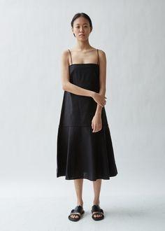 4f8531f23c Asymmetric Sleeveless Poppy Printed Dress - JP 1   Black Blue in ...