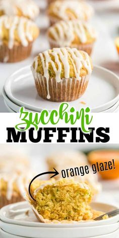 Zucchini Orange Muffins with zesty citrus flavor and a sweet orange glaze. These muffins are a delicious way to start the day!