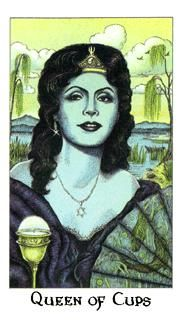 October 15 Tarot Card: Queen of Cups (Cosmic deck) Compassion, care and love -- for ourselves, and those around us -- are supremely important now