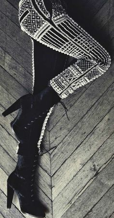 Leather beaded pants - I die!