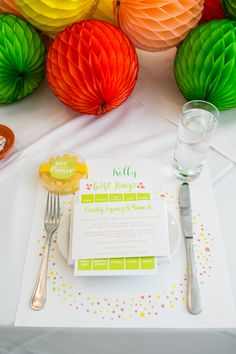 Citrus Bridal Shower