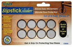 Superbe Slipstick Slider Feet For Tile Floors CB250 U2013 CB255 Set Of 8, Slipstick  25mm (1u2033) Slider Feet Ideal For Dining Chairs With Straight Legs U0026 Light  Weight ...