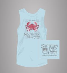 Low Country Crab tank - Southern Fried Cotton