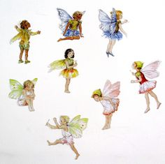 Fairy wall stickers, set of 8 - printed from my original watercolor illustrations onto high quality vinyl, this charm of meadow inspired fairies makes an adorable addition to girls bedrooms, playrooms, and nurseries!