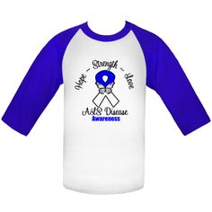 ALS Disease Hope Strength and Love motto  Baseball Jerseys features a ribbon with a butterfly inspirational design to inspire hope while raising awareness for this cause  #ALSAwareness