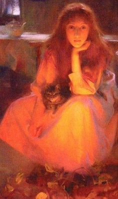 Fire Fancies, Arthur Hacker, 1858-1919   This is such a wonderful painting.