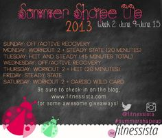 Summer Shape Up 2013 From Fitnessista