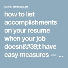 How to rewrite your resume to focus on accomplishments, not just ...
