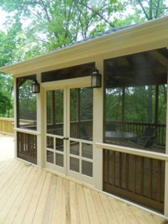 Screened In Porch Ideas Design Ideas, Pictures, Remodel, and Decor - page 6 for Ry and Natalie's back porch Outdoor Rooms, Outdoor Living, Outdoor Curtains, Porch Curtains, Bedroom Curtains, Privacy Curtains, Curtains Living, Outdoor Kitchens, Building A Porch