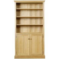 Solid oak bookcase SIZE: H194cm x W100cm x D33.6cm