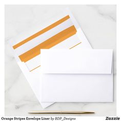 Shop Orange Stripes Envelope Liner created by BDP_Designs. Pumpkin First Birthday, 2nd Birthday, Wedding Envelopes, White Envelopes, Envelope Liners, First Birthdays, Create Yourself, Christmas Gifts, Stripes