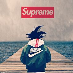 art supreme Photo by Goku Wallpaper, Deadpool Wallpaper, Dbz Wallpapers, Cute Cartoon Wallpapers, Foto Do Goku, Supreme Iphone Wallpaper, Supreme Art, Japon Illustration, Hypebeast Wallpaper