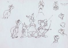 Character Designs from Robin Hood by Ken Anderson