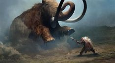 The amazing digital art of Naomi Savoie for Far Cry Primal Far Cry Primal Prehistoric Wildlife, Prehistoric Man, Prehistoric Creatures, Far Cry Primal, Extinct Animals, Celtic Art, Medieval Fantasy, Cultura Pop, Creature Design