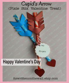 It's Written on the Wall: Valentine's Day Treat-Cupid's Arrow / Pixie Stix / Sticks-Easy to Make!