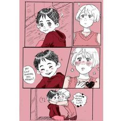 """""""Au where kid Victor went to a junior competition in japan and accidently met Yuuri."""" • Yuuri is calling Victor Onii-chan for now but don't worry it'll become daddy later ( ͡° ͜ʖ ͡°) • (1/5) [Credit : aguas-ucia/Tumblr] • • #yurionice #yurikatsuki #victuri #victornikiforov #victuuri #viktornikiforov #viktuuri #vikturi"""
