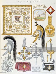 French military accoutrements including sword of the royal guard From... News Photo | Getty Images
