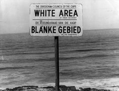 An apartheid notice on a beach near Capetown, denoting the area for whites only July 22, 1976. (Photo by Keystone/Getty Images)