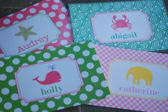Children's Personalized Monogrammed Placemats. $14.00, via Etsy.