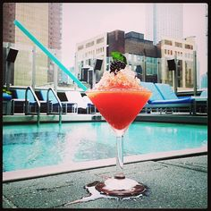 This is how we beat the heat: #Spiked #SnoCone. #Rooftop #Pool