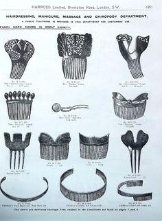 Vintage hair comb Victorian hand made openwork by ElrondsEmporium
