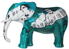 This beautiful Elephant sculpture stands 1.25m high and has been hand painted by the artist Mariola Landowska. It forms part of a collective sculpture project called Passion; an opportunity for a group of artists to interpret the universal theme of Passion freely, using the three-dimensional animal sculpture as their medium and to share their interpretations. Available from www.seegir.com