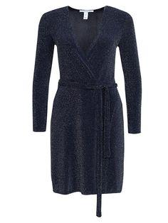 Wrapped Sparkling Dress - Nly Trend - Blå - Festkjoler - Klær - Kvinne - Nelly.com