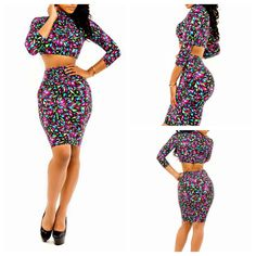 Find More Apparel & Accessories Information about Hot Vintage Flower Print Summer Long Sleeve Sexy Club Bandage Dress Bodycon Casual Party Dress Fashion 2 Pieces Outfit Work Wear,High Quality dress patterns for formal wear,China wear royal blue dress Suppliers, Cheap dress paillette from Hangzhou NEW Fashion Co., Ltd on Aliexpress.com