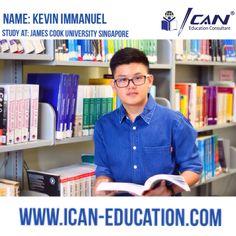 Kevin Immanuel, pelajar asal Indonesia yg berhasil mengemban pendidikannya ke James Cook University Singapore berkat mengikuti kata hati dan peran penting orang tua.  Ingin tahu ceritanya? Kunjungi website kami www.ican-education.com