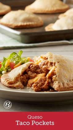 Seasoned ground beef, refried beans and pockets of melty cheese are stuffed inside these craveable pie crust pockets. Pick them up for a quick on-the-go meal, or serve them on a plate loaded with your favorite fresh toppings for a delicious new way to enjoy taco night!