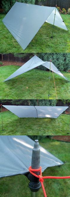 Canopies and Shelters 179011 Bear Paw Wilderness Designs 10 X 10 Silnylon Gray Tarp - & Canopies and Shelters 179011: Bear Paw Wilderness Designs Canopy 2 ...