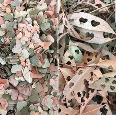 Confetti can be super fun at an event, but many venues have stopped allowing it, due to the environmental impact, not to mention the cleaning. This do-it-yourself biodegradable leaf confetti is the perfect outside alternative! Wedding Goals, Fall Wedding, Rustic Wedding, Dream Wedding, Gown Wedding, Wedding Cakes, Wedding Rings, Wedding Dresses, Natural Wedding Decor