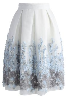 Lavender Paradise Organza Pleated Skirt - Retro, Indie and Unique Fashion